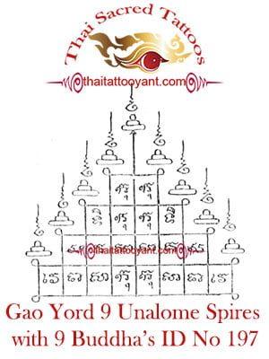 Gao Yord 9 Unalome Spires 9 Buddha's ID No 197