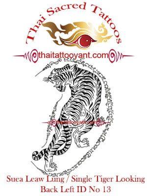 Single Tiger Suea Leaw Thai Tattoo Yant ID No 13