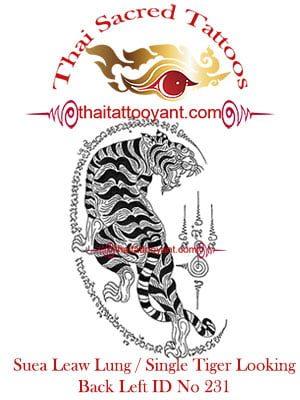 Single Tiger Suea Leaw Thai Tattoo Yant ID No 231