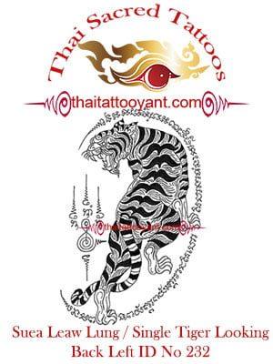 Single Tiger Suea Leaw Thai Tattoo Yant ID No 232