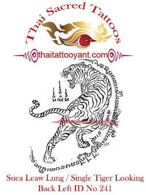 Single-Tiger-Suea-Leaw-Looking Back Left, Thai-Tattoo-Yant-ID-No-241