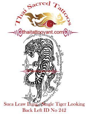 Single-Tiger-Suea-Leaw-Looking Back Left, Thai-Tattoo-Yant-ID-No-242