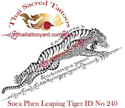 Suea Phen Leaping Tiger Right Thai Tattoo Yants ID No 240