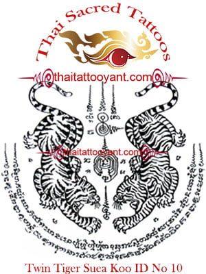 Twin Tigers Suea Koo Thai Tattoo Yant ID No-10