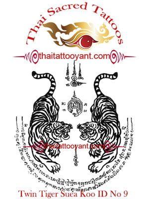 Twin Tigers Suea Koo Thai Tattoo Yant ID No 9
