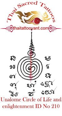 Unalome Circle of Life-Enlightenment Thai Tattoo ID No 210