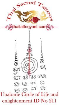 Unalome Circle of Life-Enlightenment Thai Tattoo ID No 211