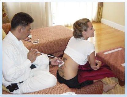 Angelina Jolie Thai Tattoos
